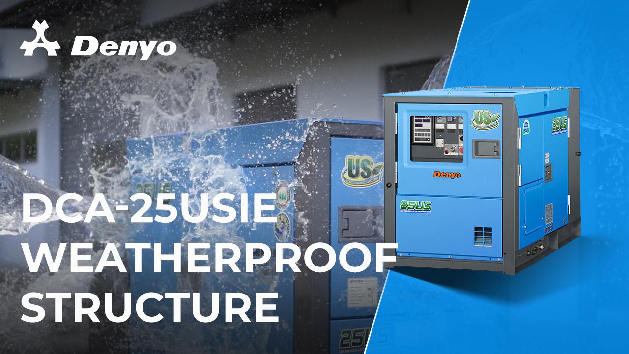Denyo DCA-25USIE Generator - Weatherproof Structure