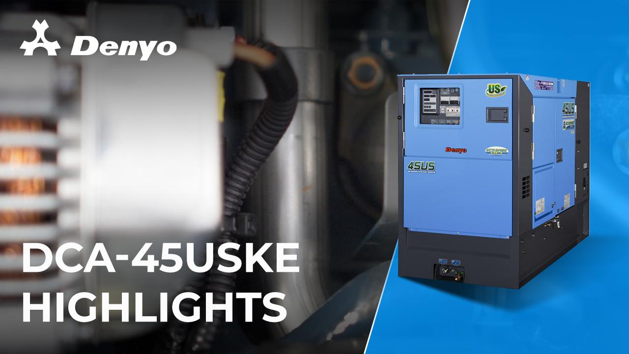 Denyo DCA-45USKE Generator - Highlight Video