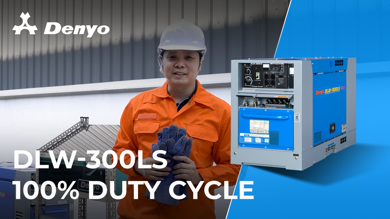 Denyo DLW-300LS Welder - 100% Duty Cycle