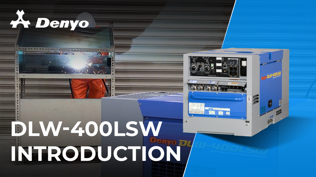 Denyo DLW-400LSW Welder - Introduction Video
