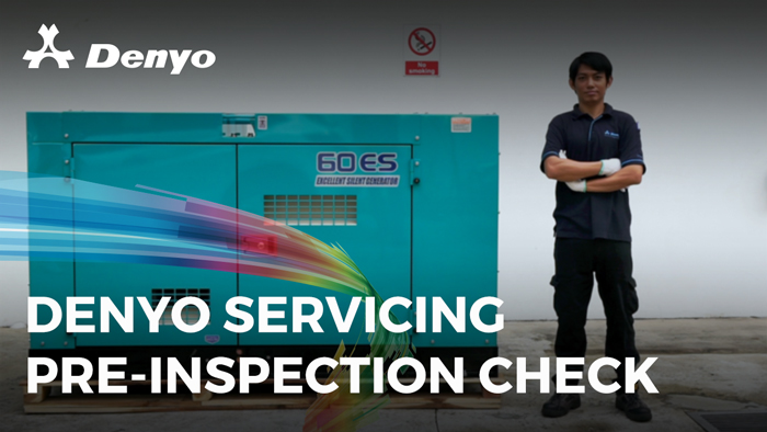 Denyo Machinery Servicing – Pre-Inspection Check