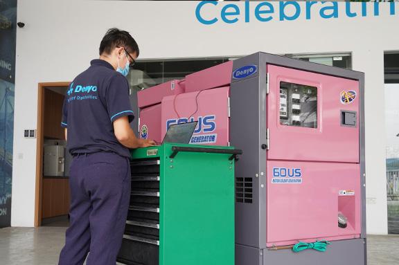Checking Denyo generator
