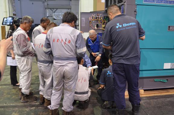 Japan mentor giving training