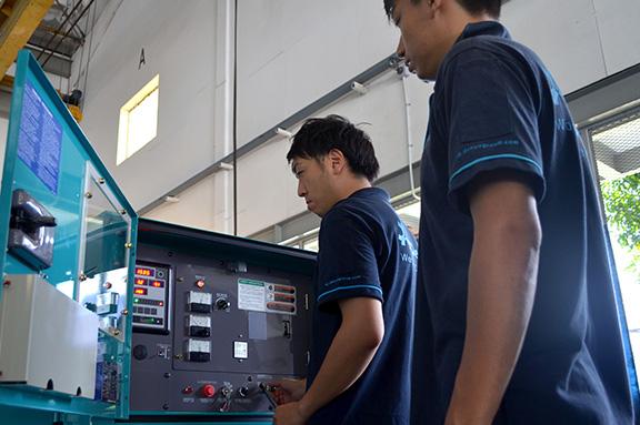 Denyo staff cheking generator