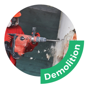 DU190 compressor can do demolition